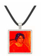 Gabrielle with red blouse by Renoir -  Museum Exhibit Pendant - Museum Company Photo
