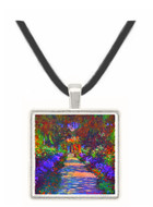 Garden at Giverny by Monet -  Museum Exhibit Pendant - Museum Company Photo