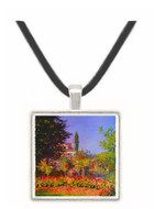 Garden at Sainte-Adresse by Monet -  Museum Exhibit Pendant - Museum Company Photo