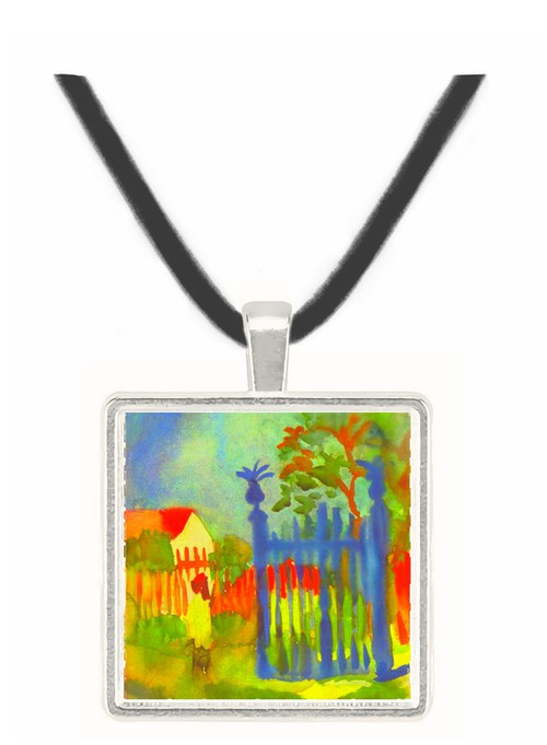 Garden gate by Macke -  Museum Exhibit Pendant - Museum Company Photo