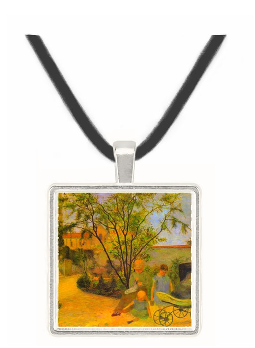 Garden in Rue Carcel by Gauguin -  Museum Exhibit Pendant - Museum Company Photo