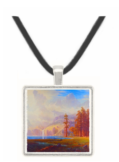 Garden of Rockies - Albert Bierstadt -  Museum Exhibit Pendant - Museum Company Photo