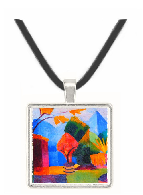 Garden on the lake of Thun by Macke -  Museum Exhibit Pendant - Museum Company Photo