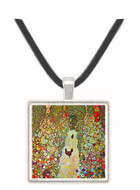 Garden Path with Chickens by Klimt -  Museum Exhibit Pendant - Museum Company Photo