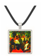 Garden Restaurant by Macke -  Museum Exhibit Pendant - Museum Company Photo