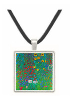 Garden with Crucifix 2 by Klimt -  Museum Exhibit Pendant - Museum Company Photo