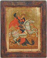 St. George - Icon on Old Wood - Photo Museum Store Company