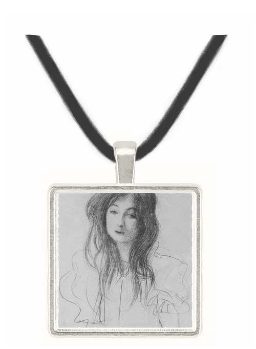 Girl with long hair by Klimt -  Museum Exhibit Pendant - Museum Company Photo