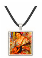 Girl with mandolin by Renoir -  Museum Exhibit Pendant - Museum Company Photo