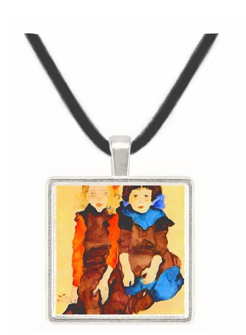 Girls by Schiele -  Museum Exhibit Pendant - Museum Company Photo