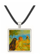 Girls by the Seaside by Renoir -  Museum Exhibit Pendant - Museum Company Photo