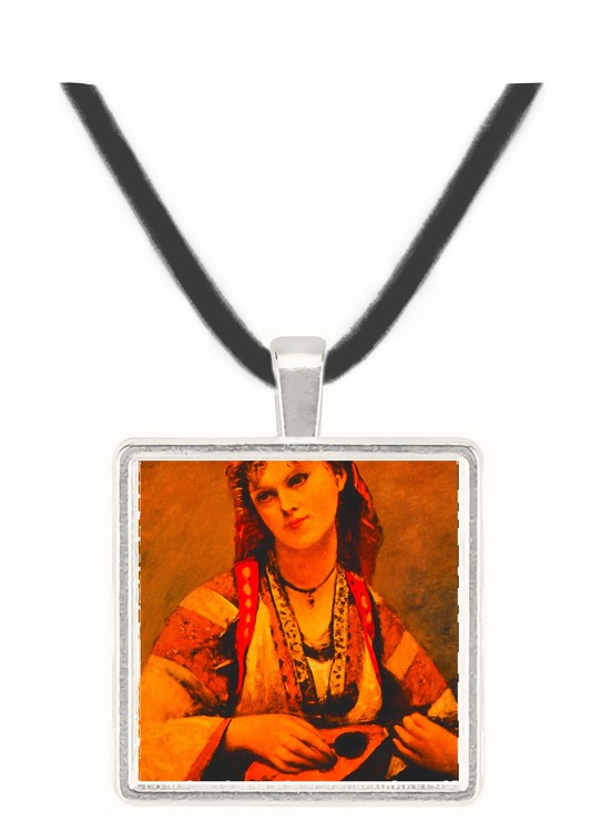 Gypsy with a Mandolin - Jean Baptiste Camille Corot - Museum Exhibit Pendant