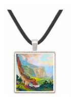 Half Dome in Yosemite by Bierstadt -  Museum Exhibit Pendant - Museum Company Photo