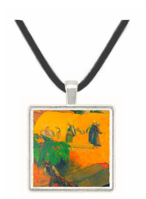 Harvest In Brittany by Gauguin -  Museum Exhibit Pendant - Museum Company Photo
