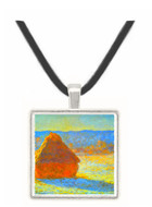 Haystacks in Snow by Monet -  Museum Exhibit Pendant - Museum Company Photo