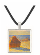 Haystacks, snow, morning by Monet -  Museum Exhibit Pendant - Museum Company Photo