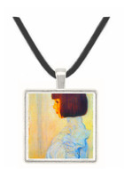 Helene Klimt portrait by Klimt -  Museum Exhibit Pendant - Museum Company Photo