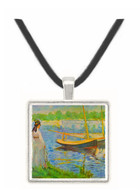 His embankment at Argenteuil by Manet -  Museum Exhibit Pendant - Museum Company Photo