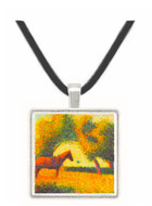 Horse and wagon by Seurat -  Museum Exhibit Pendant - Museum Company Photo