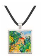 House with Red Roof by Cezanne -  Museum Exhibit Pendant - Museum Company Photo