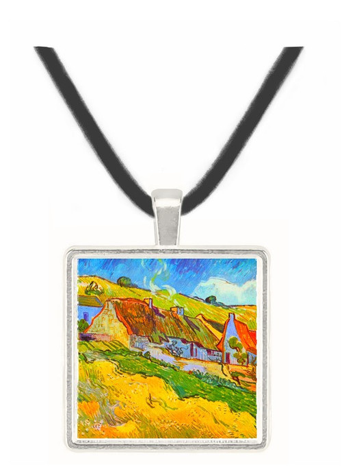 Huts in Auvers by Van Gogh -  Museum Exhibit Pendant - Museum Company Photo