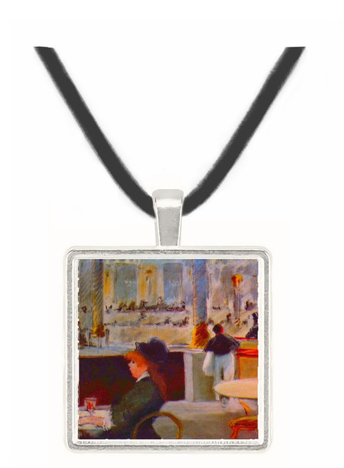 In Cafe #1 by Manet -  Museum Exhibit Pendant - Museum Company Photo