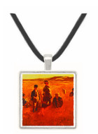 In the Fields - Eastman Johnson -  Museum Exhibit Pendant - Museum Company Photo