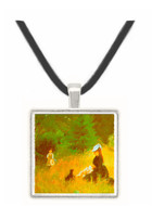 In the Grass by Morisot -  Museum Exhibit Pendant - Museum Company Photo