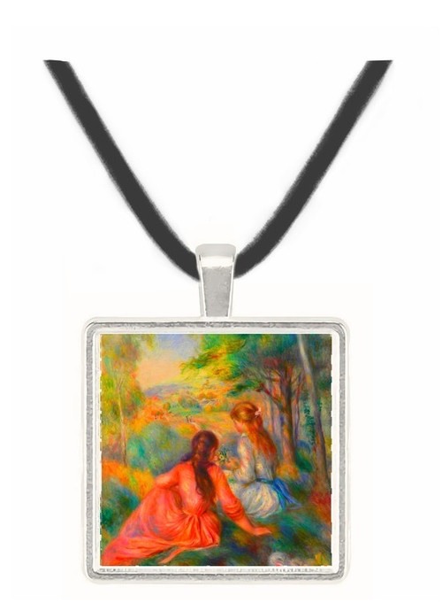 In the meadow by Renoir -  Museum Exhibit Pendant - Museum Company Photo