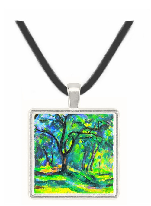 In the Woods by Cezanne -  Museum Exhibit Pendant - Museum Company Photo