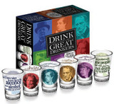 Great Drinkers Shot Glasses - Yeats, Oscar Wilde, Dylan Thomas and W.C. Fields - Photo Museum Store Company