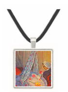 Jean Monet in the cradle by Monet -  Museum Exhibit Pendant - Museum Company Photo