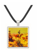 Jerked Down - Charles M. Russell -  Museum Exhibit Pendant - Museum Company Photo