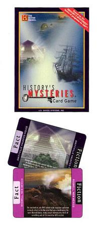 Historys Mysteries (R) Card Game - from The History Channel - Photo Museum Store Company