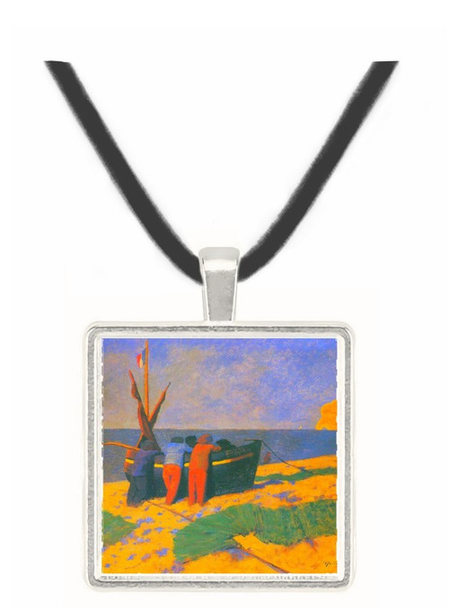 July in Etretat by Felix Vallotton -  Museum Exhibit Pendant - Museum Company Photo