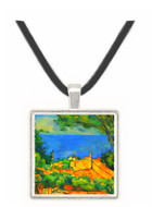 l'Estaque with Red Roofs by Cezanne -  Museum Exhibit Pendant - Museum Company Photo