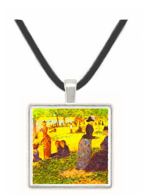 La Grande Jatte by excursionists by Seurat -  Museum Exhibit Pendant - Museum Company Photo