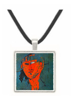 La Tete Rouge (1915) - Amedeo Modigliani -  Museum Exhibit Pendant - Museum Company Photo