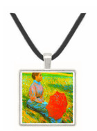 Lady in a Meadow by Zancomeneghi -  Museum Exhibit Pendant - Museum Company Photo