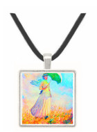 Lady with sunshade, study by Monet -  Museum Exhibit Pendant - Museum Company Photo