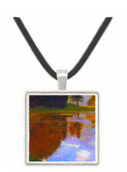 Lake in front of the Castle by Klimt -  Museum Exhibit Pendant - Museum Company Photo