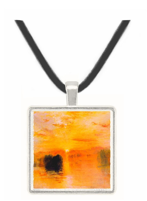 Lake Petworth sunset by Joseph Mallord Turner -  Museum Exhibit Pendant - Museum Company Photo