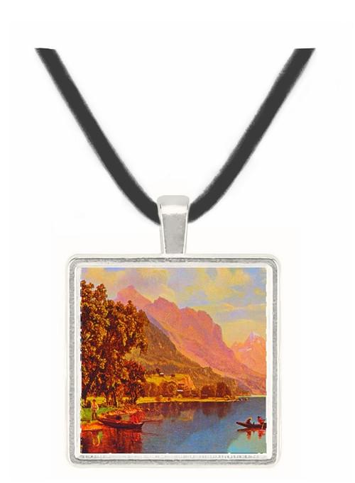 Lakeside Scene - Albert Bierstadt -  Museum Exhibit Pendant - Museum Company Photo
