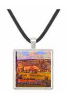 Landscape with Farm Houses - Camille Pissarro -  Museum Exhibit Pendant - Museum Company Photo