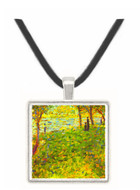 Landscape with figures by Seurat -  Museum Exhibit Pendant - Museum Company Photo