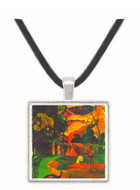 Landscape With Peacocks by Gauguin -  Museum Exhibit Pendant - Museum Company Photo