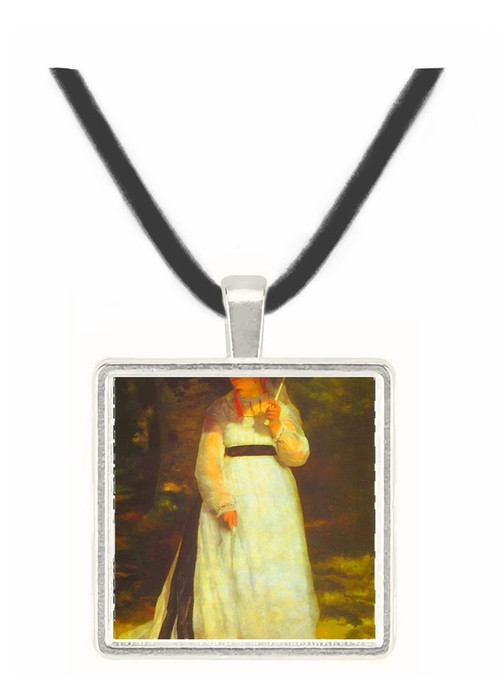 Lise_with_an_Umbrella -  Museum Exhibit Pendant - Museum Company Photo