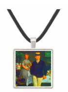 Luncheon by Manet -  Museum Exhibit Pendant - Museum Company Photo