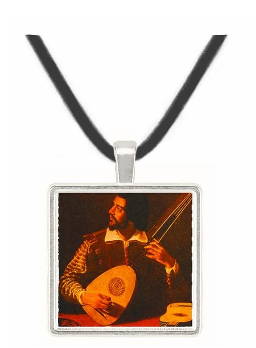Lute Player - Michelangelo Caravaggio -  Museum Exhibit Pendant - Museum Company Photo