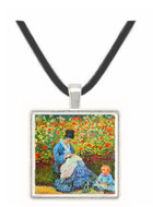 Madame Monet and child by Monet -  Museum Exhibit Pendant - Museum Company Photo
